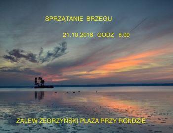 Sprzątanie Brzegu 21.10.2018 Zalew Zegrzyński