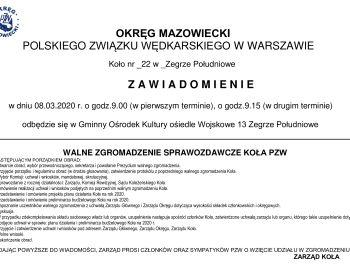Walne Zgromadzenie Sprawozdawcze 08.03.2020r